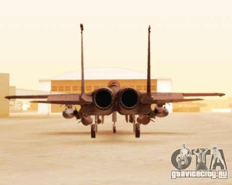 F-15E Strike Eagle для GTA San Andreas вид сзади