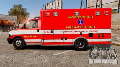 Brute Woonsocket Fire Medic Unit [ELS] для GTA 4 вид слева