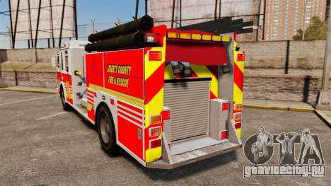 Firetruck LCFR [ELS] для GTA 4 вид сзади слева