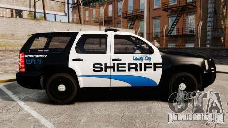 Chevrolet Tahoe 2008 Federal Signal Valor [ELS] для GTA 4 вид слева