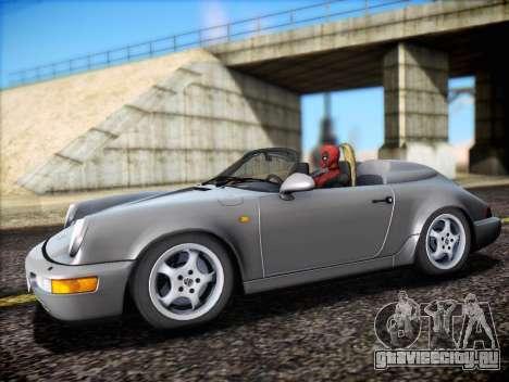 Porsche 911 Speedster Carrera 2 1992 для GTA San Andreas вид снизу