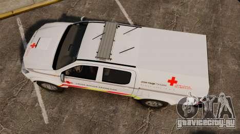 Toyota Hilux French Red Cross [ELS] для GTA 4 вид справа
