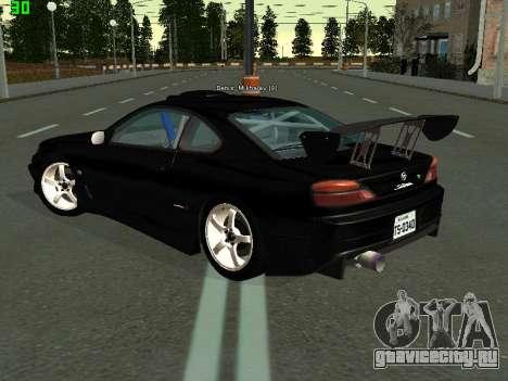 Nissan Silvia S15 Tuning для GTA San Andreas вид сзади слева