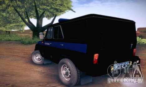 УАЗ Hunter Полиция для GTA San Andreas вид справа