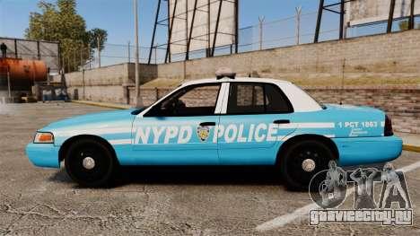 Ford Crown Victoria NYPD [ELS] для GTA 4 вид слева