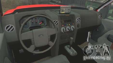 Ford E-350 LAFD Ambulance [ELS] для GTA 4 вид сзади