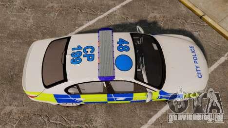 BMW M5 E60 City Of London Police [ELS] для GTA 4 вид справа