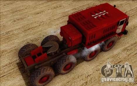 МАЗ 535 Пожарный для GTA San Andreas вид сзади