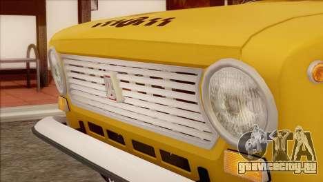 ВАЗ 21011 Такси для GTA San Andreas вид сзади