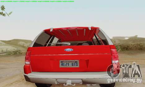 Ford Explorer 2002 для GTA San Andreas вид справа
