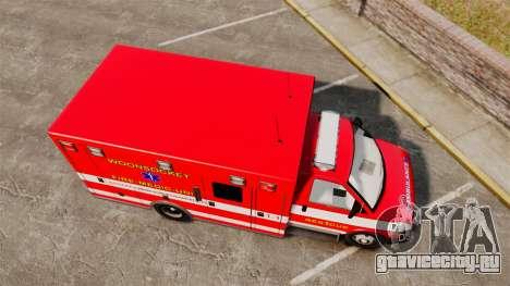 Brute Woonsocket Fire Medic Unit [ELS] для GTA 4 вид справа