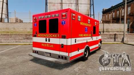 Brute Woonsocket Fire Medic Unit [ELS] для GTA 4 вид сзади слева