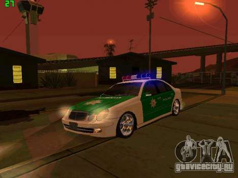Mercedes-Benz  E500 Polizei для GTA San Andreas вид изнутри