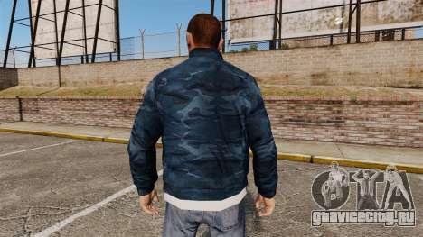 Синяя камуфляжная ветровка для GTA 4 второй скриншот