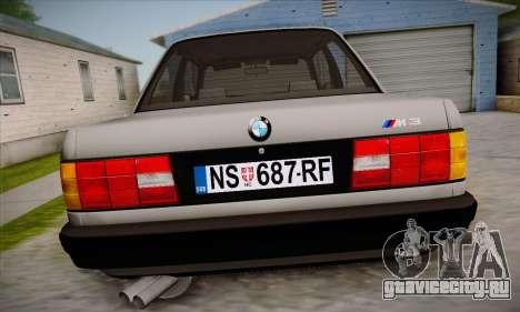BMW M3 E30 для GTA San Andreas салон