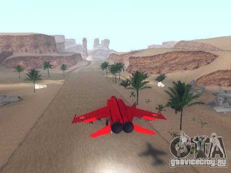 МиГ 25 для GTA San Andreas вид справа