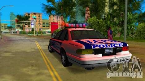 GTA IV Police Cruiser для GTA Vice City вид справа