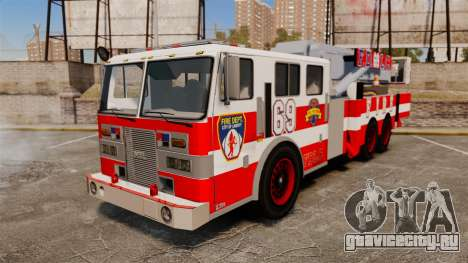 MTL Firetruck Tower Ladder FDLC [ELS-EPM] для GTA 4