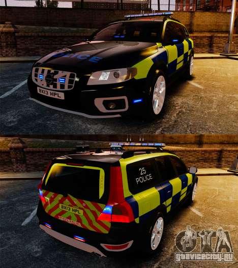 Volvo XC70 Police [ELS] для GTA 4 вид изнутри