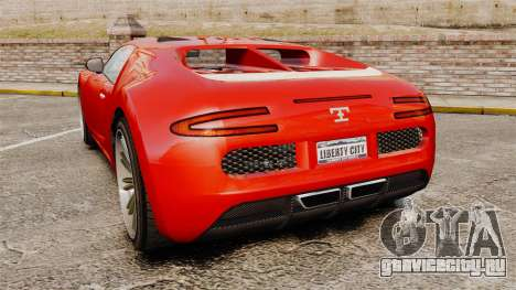 GTA V Truffade Adder для GTA 4 вид сзади слева