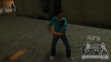Окровавленная Бейсбольная Бита для GTA Vice City третий скриншот