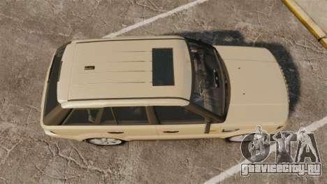 Range Rover Sport Unmarked Police [ELS] для GTA 4 вид справа
