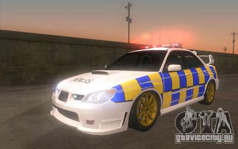 Subaru Impreza 2006 WRX STi Police Malaysian для GTA San Andreas