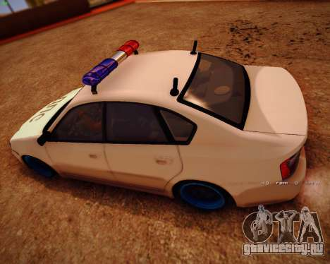 Subaru Legacy для GTA San Andreas вид сзади слева