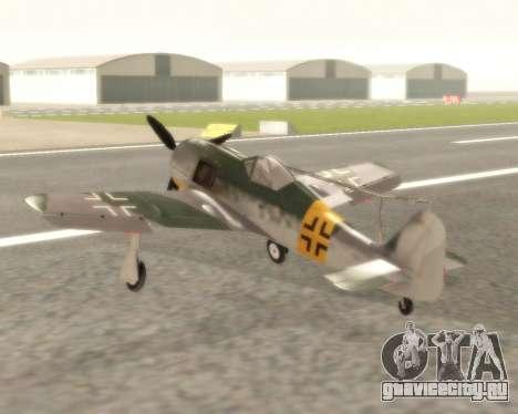 Focke-Wulf FW-190 F-8 для GTA San Andreas вид сзади слева