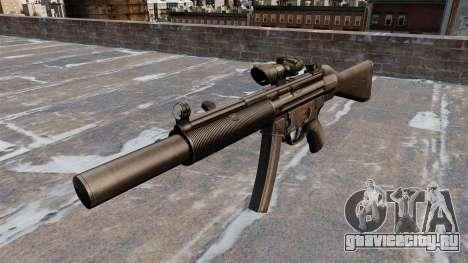 Пистолет-пулемёт HK MP5SD2 для GTA 4