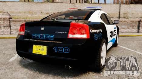 Dodge Charger 2010 Police [ELS] для GTA 4 вид сзади слева