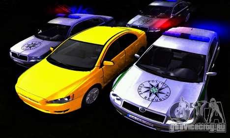 Skoda Superb POLICIE для GTA San Andreas вид сзади