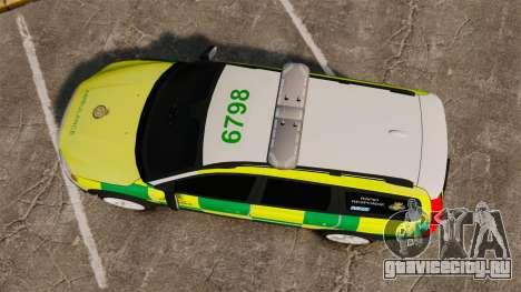 Volvo XC70 Paramedic [ELS] для GTA 4 вид справа