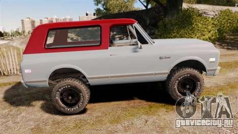 Chevrolet K5 Blazer для GTA 4 вид слева