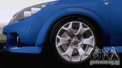 Vauxhall Astra VXR  2007 для GTA San Andreas вид слева