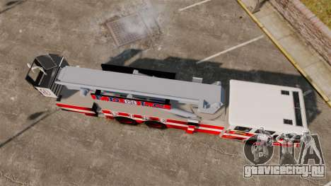MTL Firetruck Tower Ladder FDLC [ELS-EPM] для GTA 4 вид справа