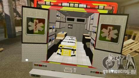 Ford E-350 LAFD Ambulance [ELS] для GTA 4 вид изнутри