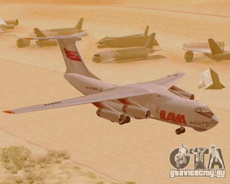 Ил-76ТД ИлАвиа для GTA San Andreas вид слева