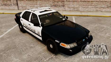Ford Crown Victoria 2008 LCPD Patrol [ELS] для GTA 4 вид изнутри