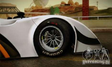 Caterham-Lola SP300.R для GTA San Andreas вид изнутри