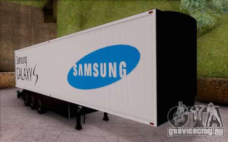 Samsung Galaxy S Trailer для GTA San Andreas вид слева