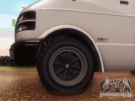 Youga из GTA 5 для GTA San Andreas вид справа
