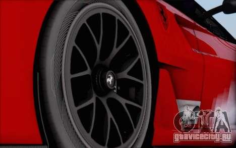 Ferrari 599XX Evolution для GTA San Andreas вид сзади слева