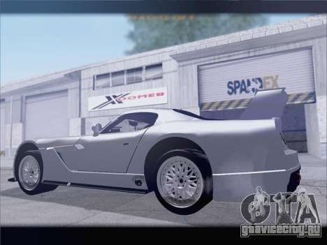 Dodge Viper Competition Coupe для GTA San Andreas вид справа
