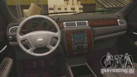 Chevrolet Suburban Slicktop 2008 [ELS] для GTA 4 вид сзади