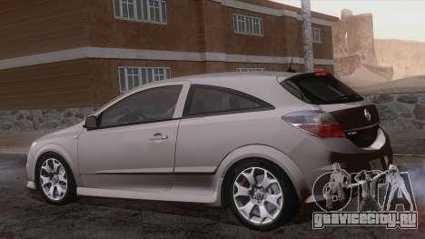 Vauxhall Astra VXR  2007 для GTA San Andreas вид сбоку