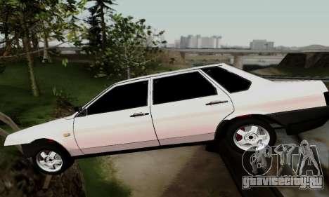 ВАЗ 21099 Бродяга для GTA San Andreas вид изнутри