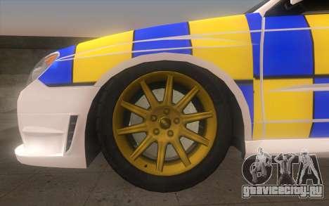 Subaru Impreza 2006 WRX STi Police Malaysian для GTA San Andreas вид сзади слева