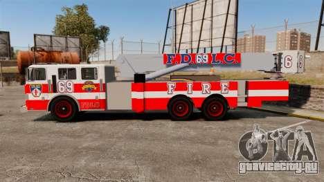 MTL Firetruck Tower Ladder FDLC [ELS-EPM] для GTA 4 вид слева