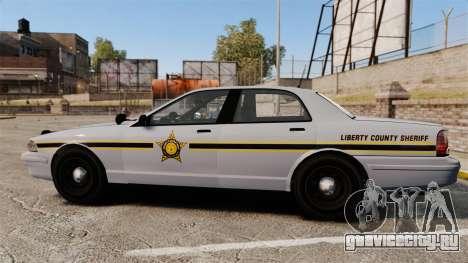 GTA V Vapid Police Cruiser Scheriff [ELS] для GTA 4 вид слева
